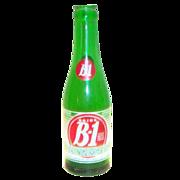 Drink B-1 Green Glass Soda Bottle - Marked