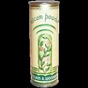 William A. Woodbury Talcum Powder Tin - Marked