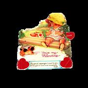 "SALE Vintage Mechanical ""You're My Valentine"" Cardboard Valentine"