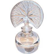 SALE Lovely Pressed Glass American Fan Stopper & Starburst Style Top Perfume Bottle