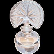 Lovely Pressed Glass American Fan Stopper & Starburst Style Top Perfume Bottle