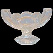 Chippendale Clear Glass Salt Cellar