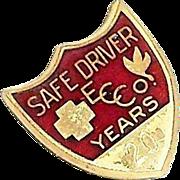 SALE Coca Cola 20 Years Safe Driver Award Pin