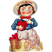 "Vintage ""My Valentine"" Buster Brown Style Mechanical Valentine"