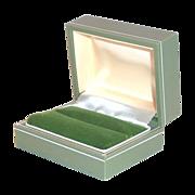 Plastic Sage Green Ring Display Box