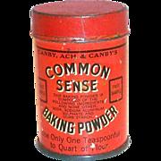 SALE Vintage Common Sense Baking Powder Sample Tin