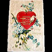 "Vintage ""To My Valentine"" Postcard"