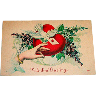 "Vintage ""Valentine Greetings"" Postcard"
