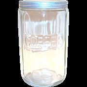 Vintage Hoosier Coffee Jar or Canister