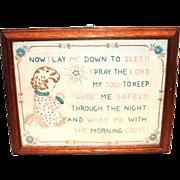 SALE Vintage Framed Children's Lord's Prayer