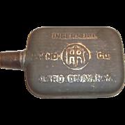 Vintage Ingersoll Rand Co. Advertising Metal or Tin Flask