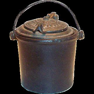 Antique Cast Iron Glue Pot Patented 1872-1875