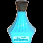 Fuller Brush Co. Blue Hedge Lotion Sachet Glass Bottle
