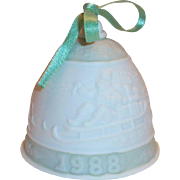 Lladro 1988 Porcelain Christmas Bell in Original Box