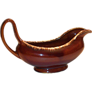 Vintage Hull Oven-Proof Brown Drip Pottery Gravy Boat or Bowl