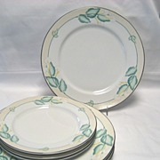7 Lenox China Dancing Lilies Plates - 4 Dinner - 3 Salad