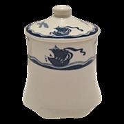 """O.P. Co. Syracuse China """"Viking"""" Sugar Bowl with Lid"""