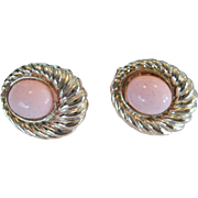Stannard Gold-tone and Pink Pierced With Clip Earrings