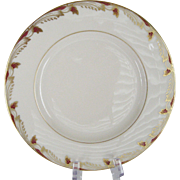 Lenox Essex Maroon Smooth Salad Plates - 12 Available