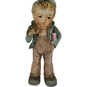 SALE Large School Boy Figurine - Made In Japan