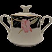 Mikasa Charisma Black Covered Sugar Bowl