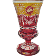 Spectacular Engraved Moser Goblet - 3 Colors