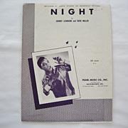 SALE Jackie Wilson Sheet Music - Night