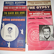 SALE 8 Vintage Sheet Musics - 1940's
