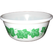 SALE Hazel Atlas Green Ivy Leaf Mixing Bowl