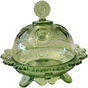 Imperial Glass Footed Butter Dish - Domed Lid