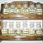 SALE 12 Bottle Wooden Spice Rack