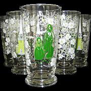 SALE Set of 6 Libbey Americana - New England Traditions - Iced Tea Glasses