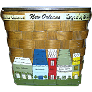 """SALE New Orleans Themed Box Purse Made """"Specially For Holmes"""""""