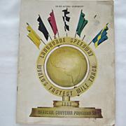 Langhorne Speedway Official Souvenir Program - 1962
