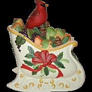 Lenox Winter Greetings Sleigh Cookie Jar