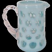 Fenton Blue Coin Dot Creamer