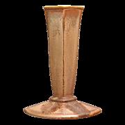 "Cowan Pottery ""Diamond"" Bud Vase, Fawn Glaze, Ca. 1929"