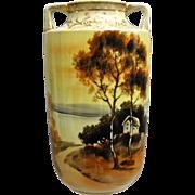 Noritake Nippon Hand Painted Scenic Vase