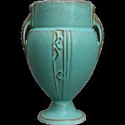 """Roseville Pottery Moderne Vase #787-6"""", Turquoise, Circa 1936"""