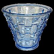 Orrefors Faceted Glass Vase, Blue, Circa 1930