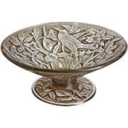 SOLD Consolidated Martele' Hummingbird Compote, Sepia Wash, Ca. 1926
