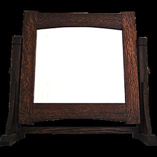 Mission Oak Arts & Crafts Standing Mirror