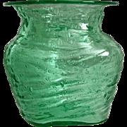 SOLD Consolidated Catalonian Rose Jar #1109-B, Emerald Green, Ca. 1929
