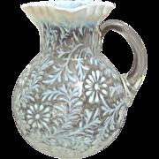 Northwood Glass Daisy & Fern Pitcher, Circa 1900