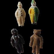 "Tiny Celluloid ""Miniature Circus"" with Bear * Black Doll & Clowns"