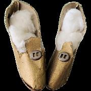 Nice Metallic Gold Heels for Boudoir Flapper Doll