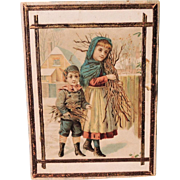 REDUCED Great Lithographed Children Hankie Box