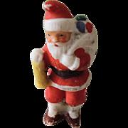 Tiny German Bisque Santa Christmas Figure