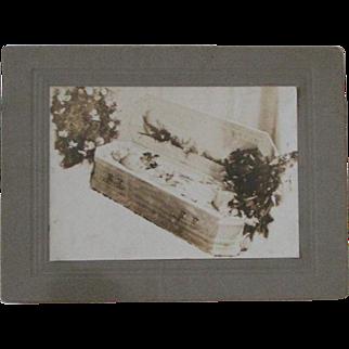 REDUCED Photo In Memoriam Infant; original mounting & print