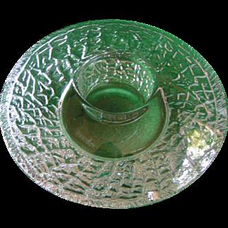 SALE Unusual Orrefors Crystal Candle Corona